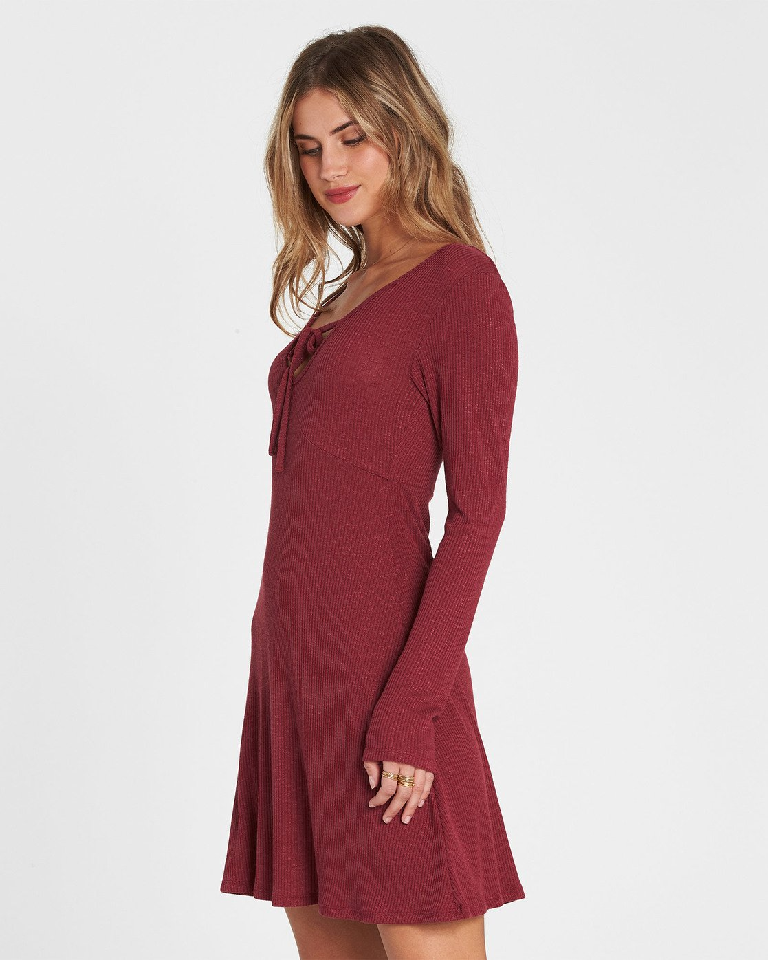 27fa852a15 1 Walk On Long Sleeve Sweater Dress Red JD17SBWA Billabong
