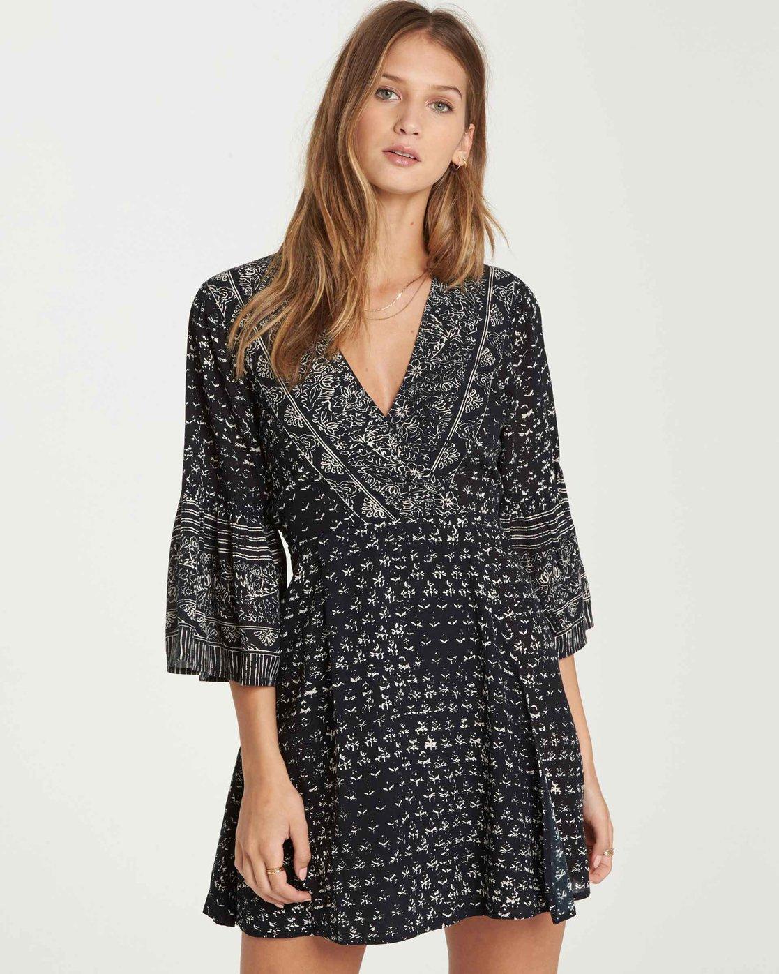 23a38616739 0 Divine Mini Dress Black JD26MDIV Billabong