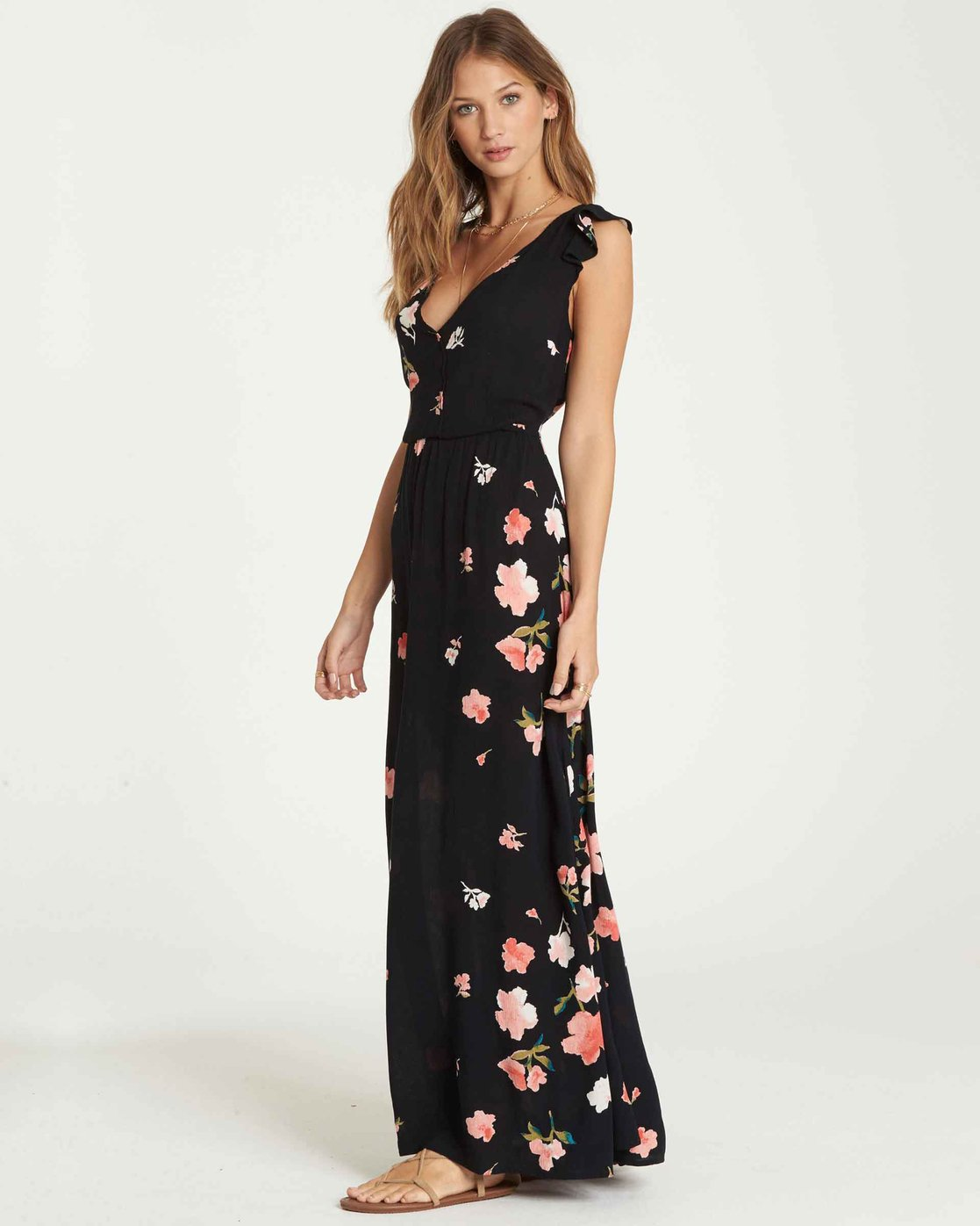 491f9d2b00e 2 Wind Flutter Maxi Dress Black JD34QBWI Billabong