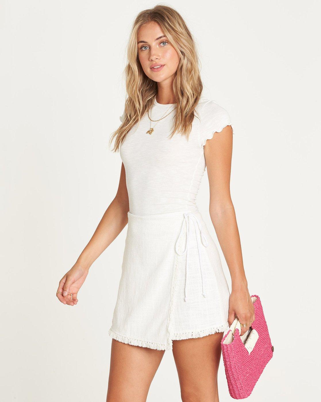 a27e5aba8 0 Cha Cha Mini Skirt White JK01UBCH Billabong