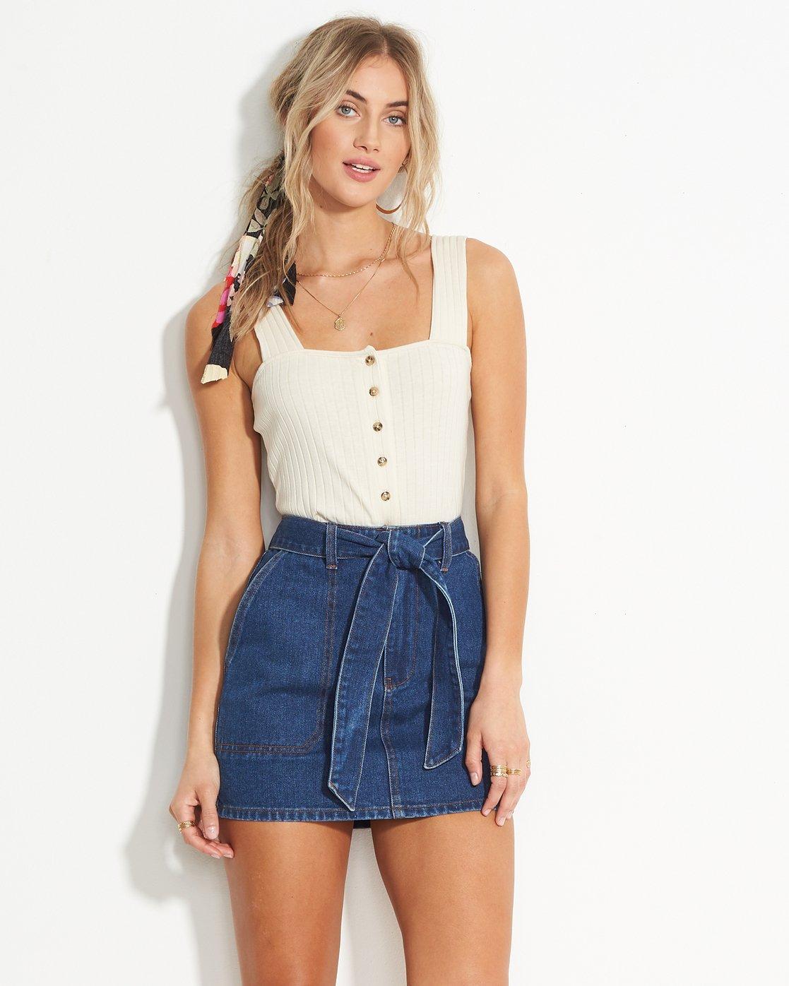 Live Simple Indigo Skirt