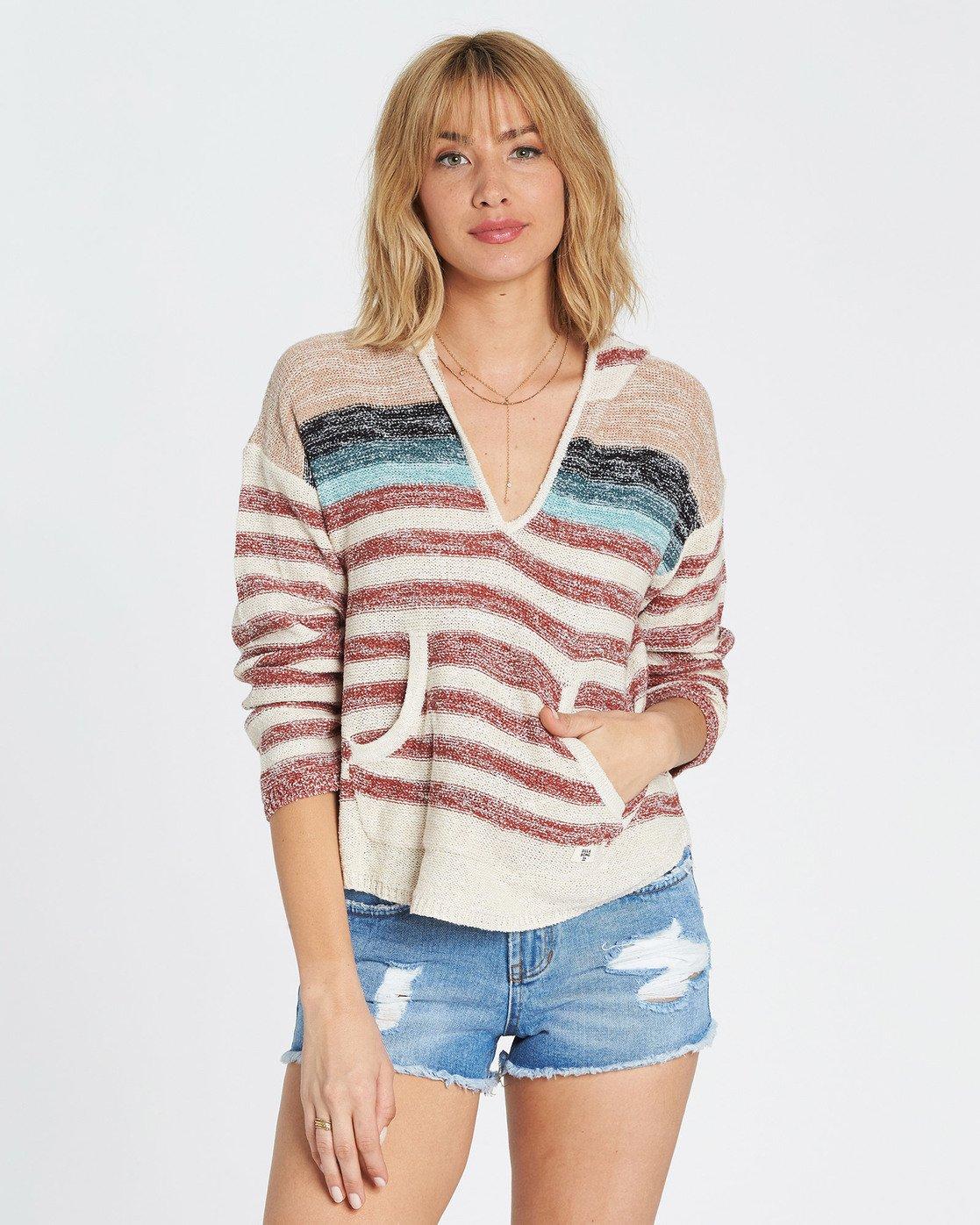 e6f320549b 0 Baja Beach Hooded Sweater Red JV01QBBA Billabong