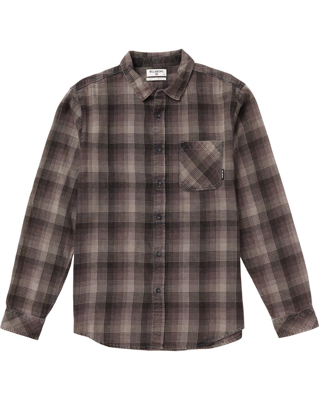 668251831 0 Kids' Freemont Plaid Flannel Shirt Grey K523SBFR Billabong