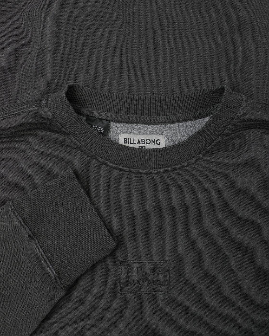 8828e5a86b4d 1 Wave Wash Crew Sweatshirt Black L1FL04BIF8 Billabong