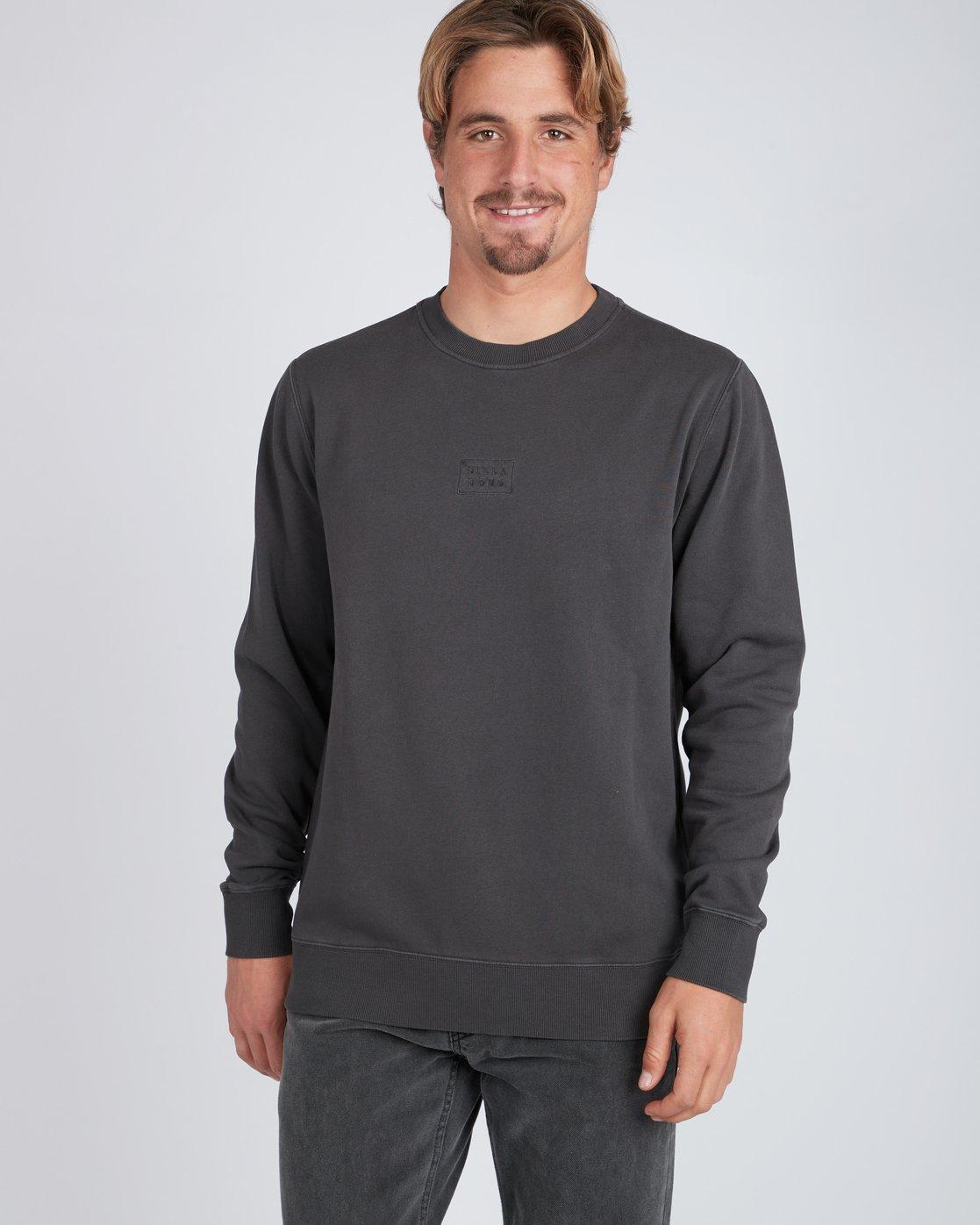 76083a36563f 2 Wave Wash Crew Sweatshirt Black L1FL04BIF8 Billabong