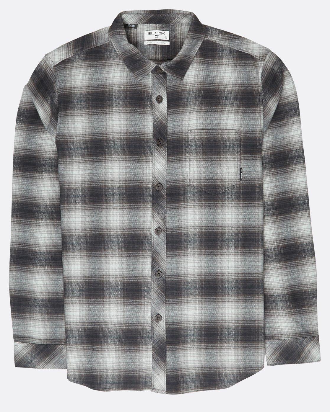 25b405366 0 Coastline Flannel Shirt Black L1SH04BIF8 Billabong