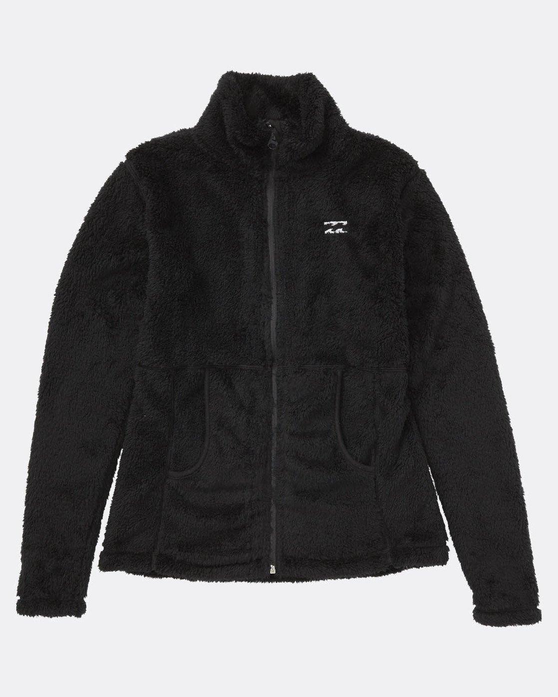 9958f8470e 0 First Chair Sherpa Snow Zip Fleece Noir L6SF02BIF8 Billabong