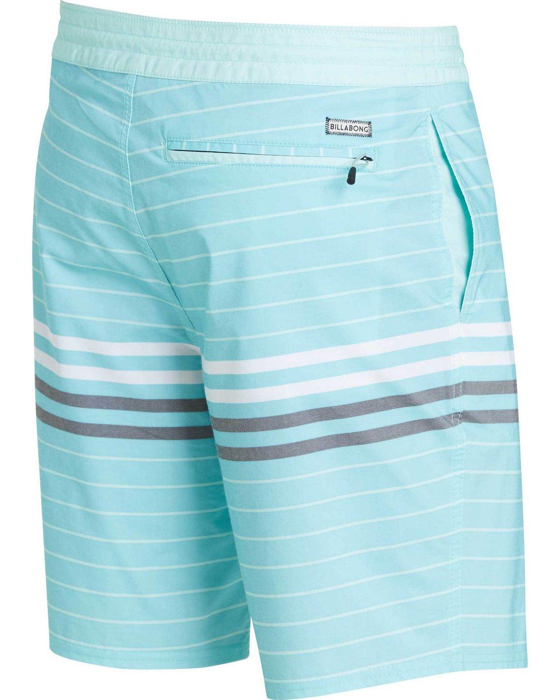 "Billabong METHOD Black Blue Striped Floral Recycle Series 20/"" Men/'s Boardshorts"