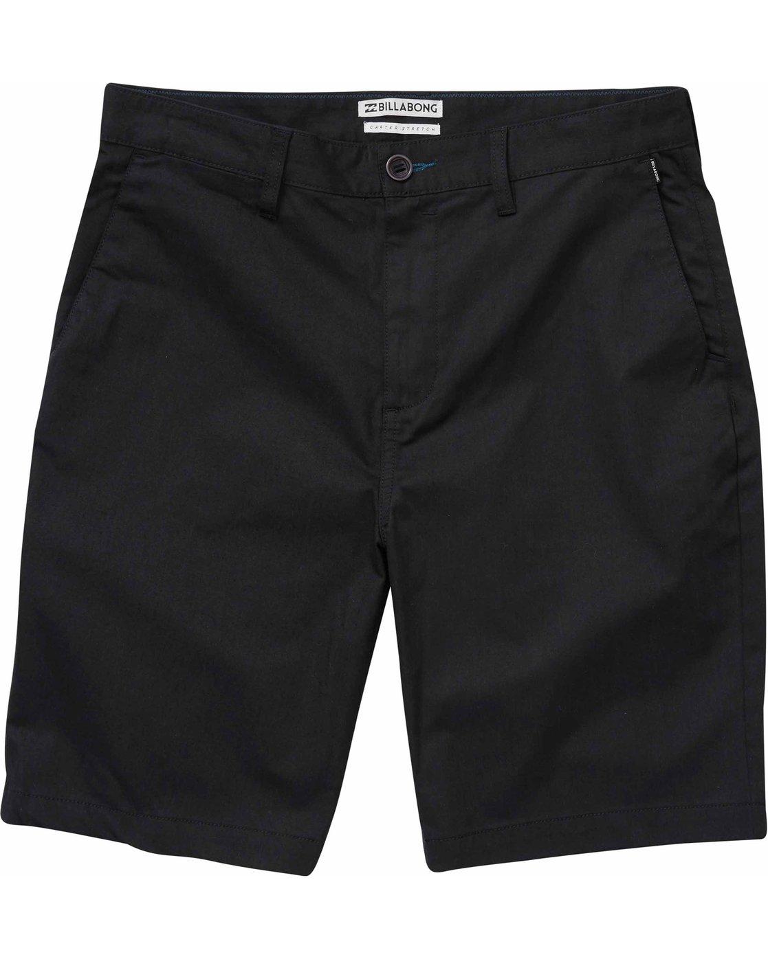 8c5933702b 0 Carter Stretch Shorts Black M231NBCS Billabong