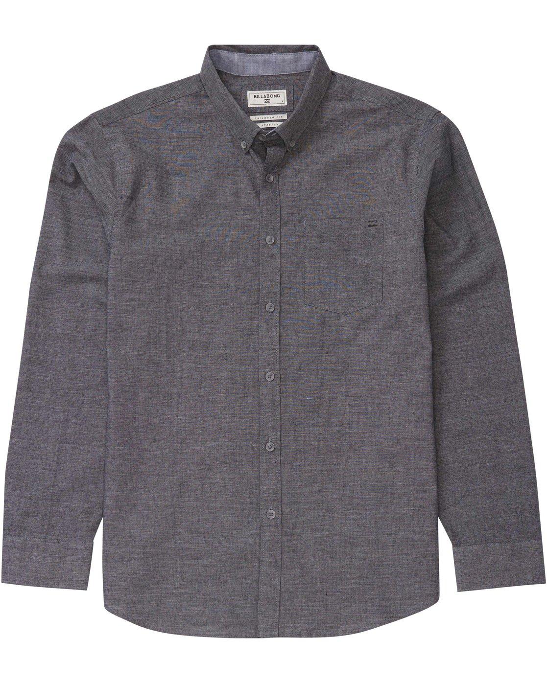 6f4bebfa 0 All Day Long Sleeve Chambray Shirt M517GALS Billabong