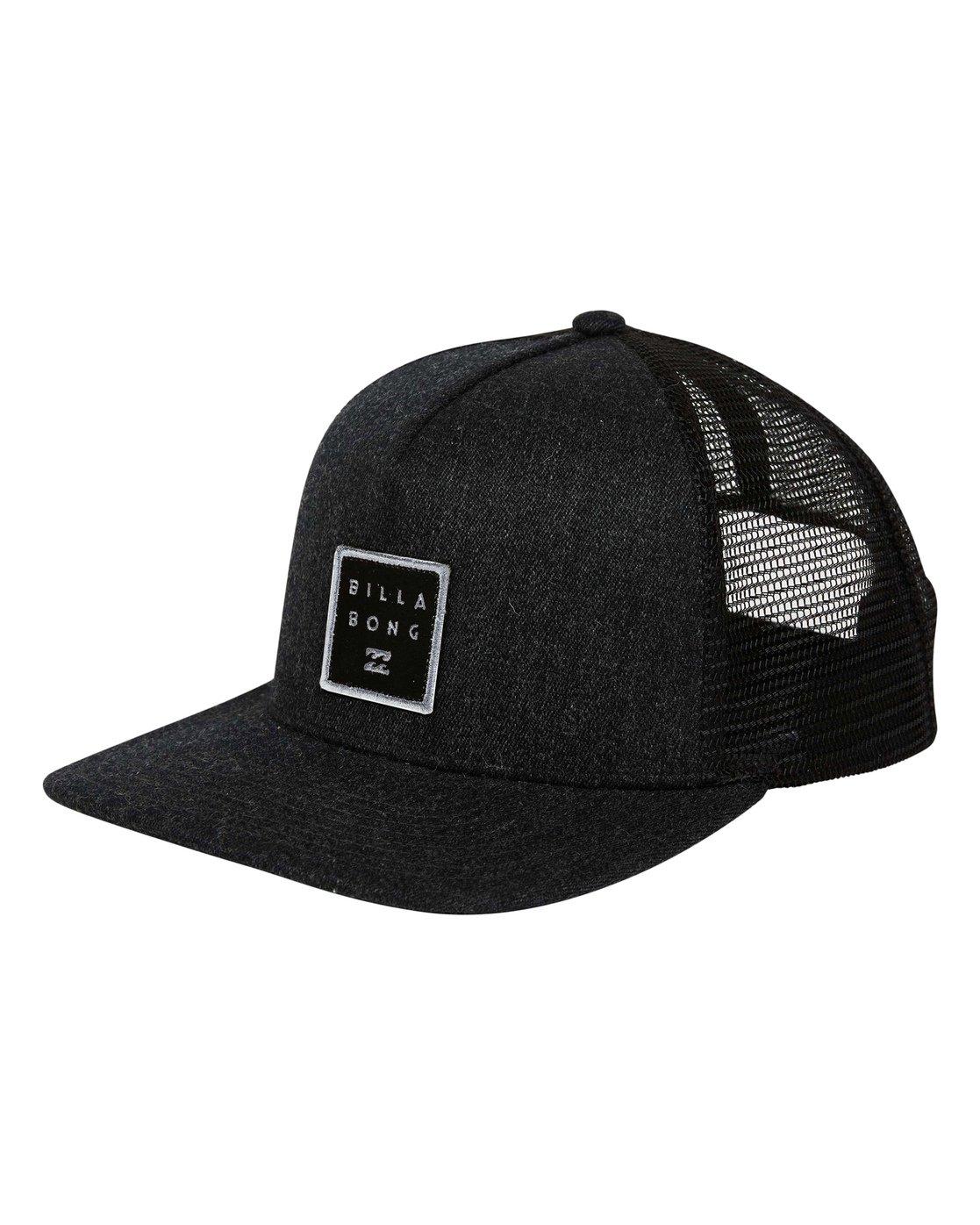 61a3d1c9a83 0 Stacked Trucker Hat Black MAHWTBST Billabong