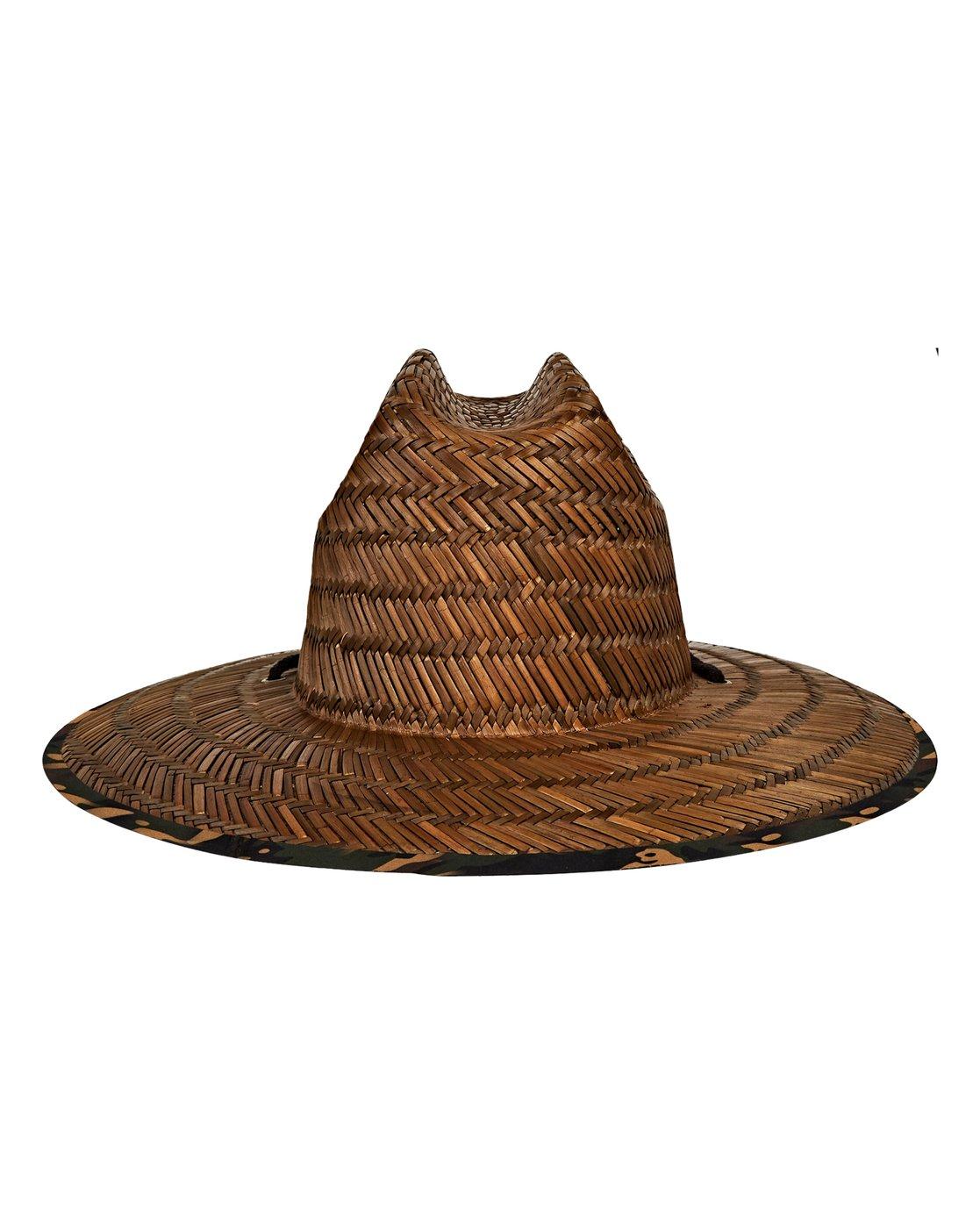 ce5899bde46246 3 Tides Print Lifeguard Straw Hat Camo MAHWVBTP Billabong