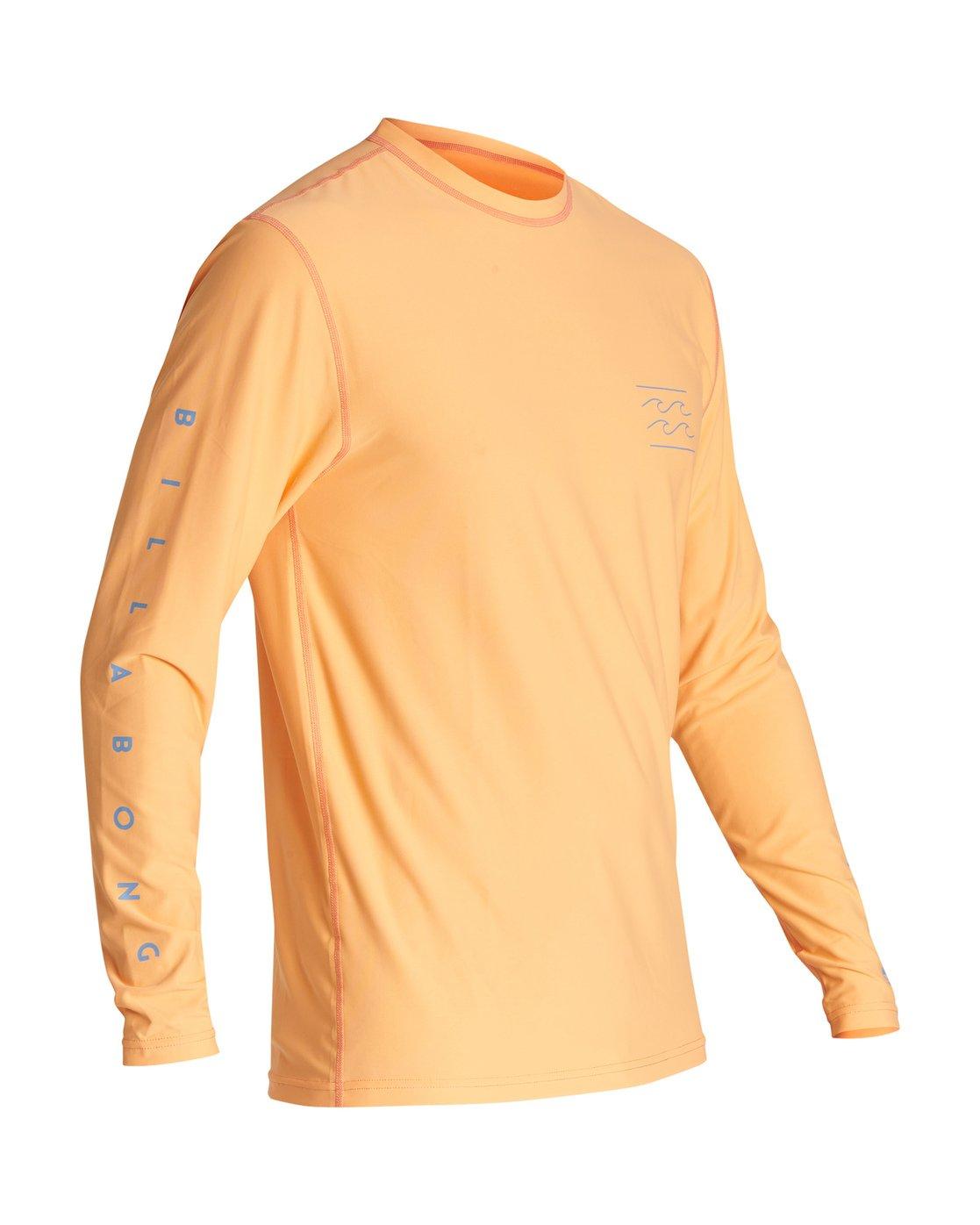 Billabong Mens Contrast Long Sleeve Surf Rash Vest Navy X Large