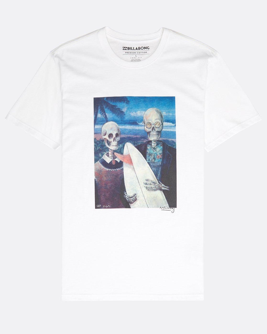ef843e883 0 Hawaiian Gothic T-Shirt White N1SS34BIP9 Billabong