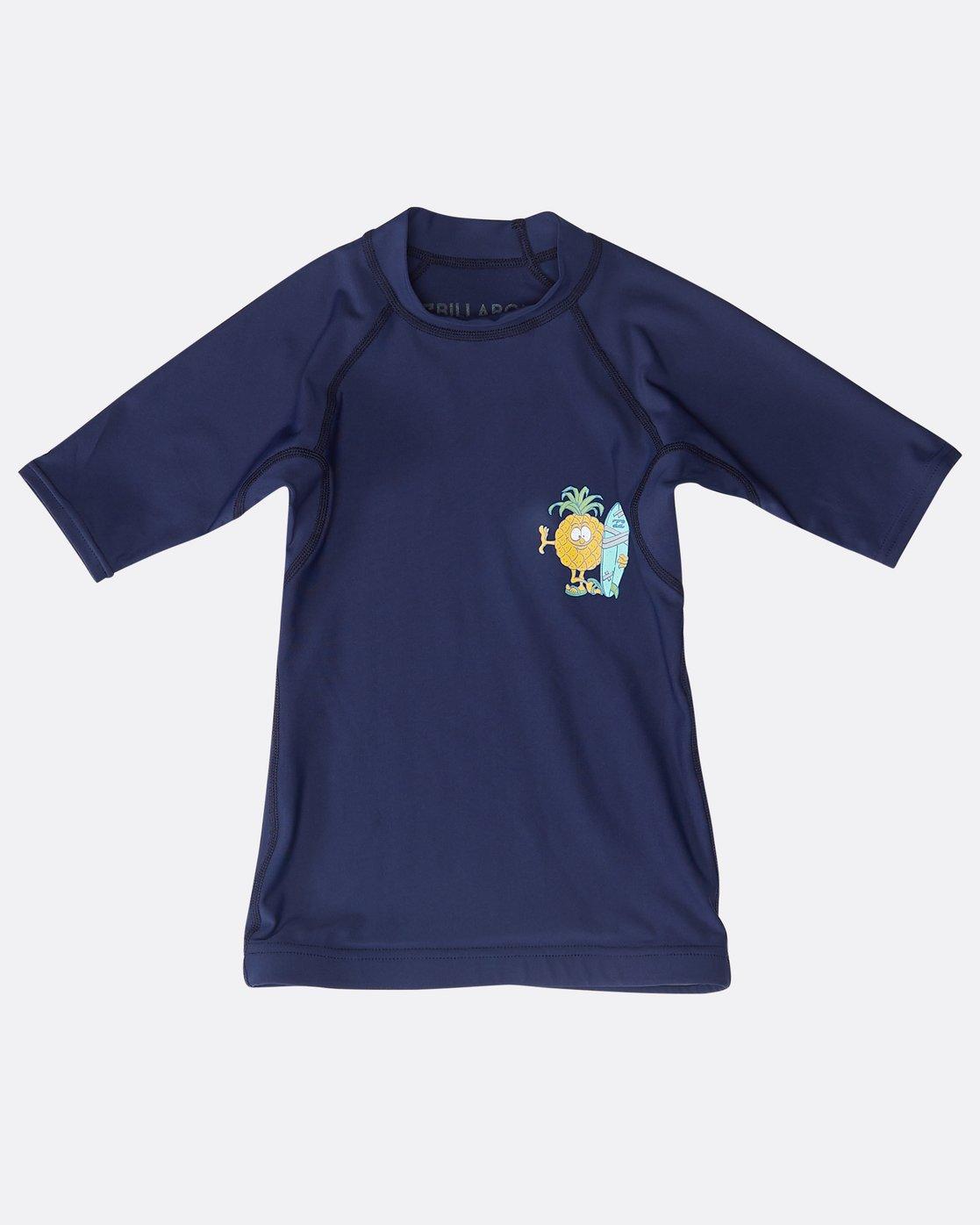 51d01516cf 0 Boys Short Sleeve Rashguard Blue N4TY05BIP9 Billabong