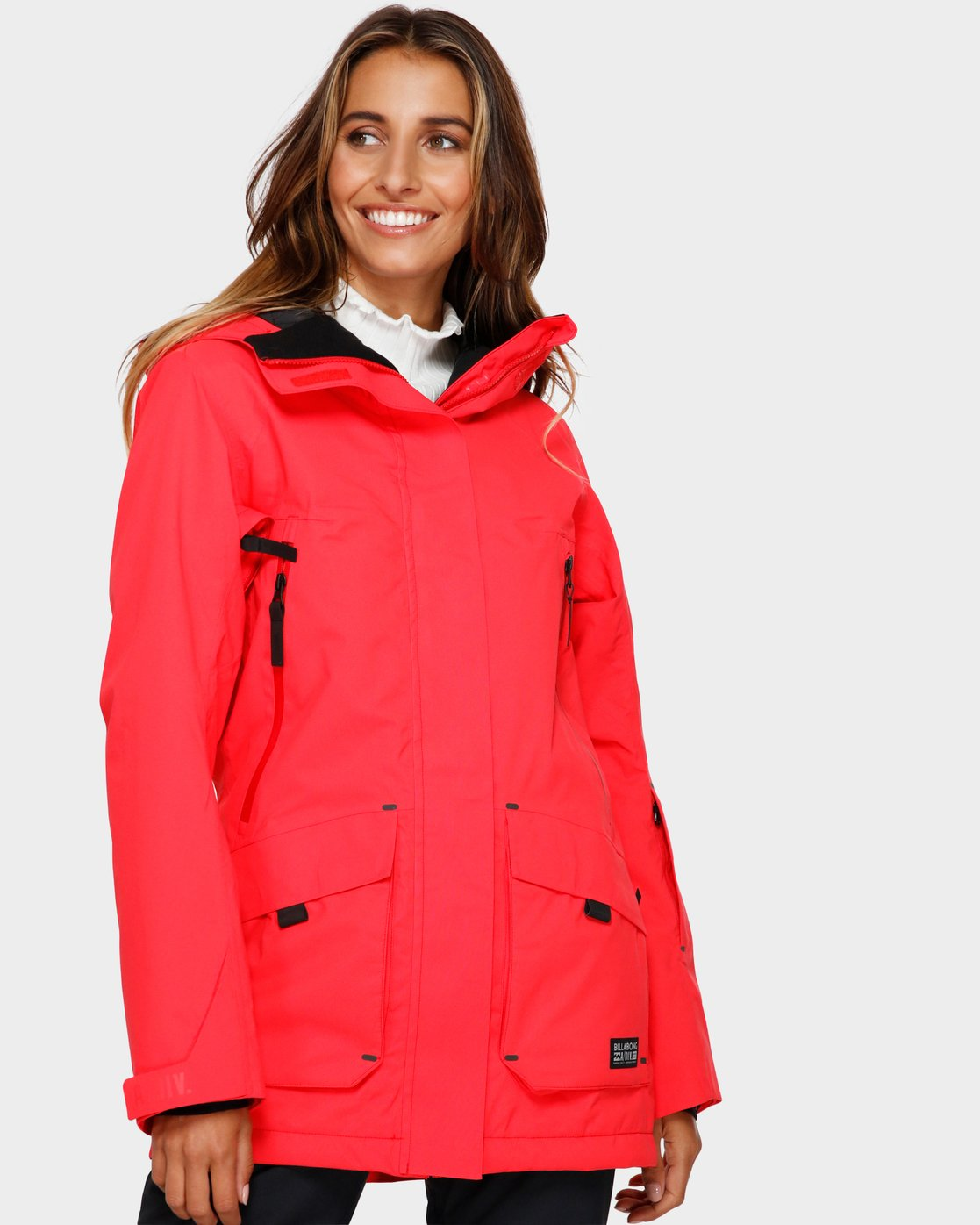Billabong Women/'s Trooper Snow Jacket Black XS Choose SZ//color
