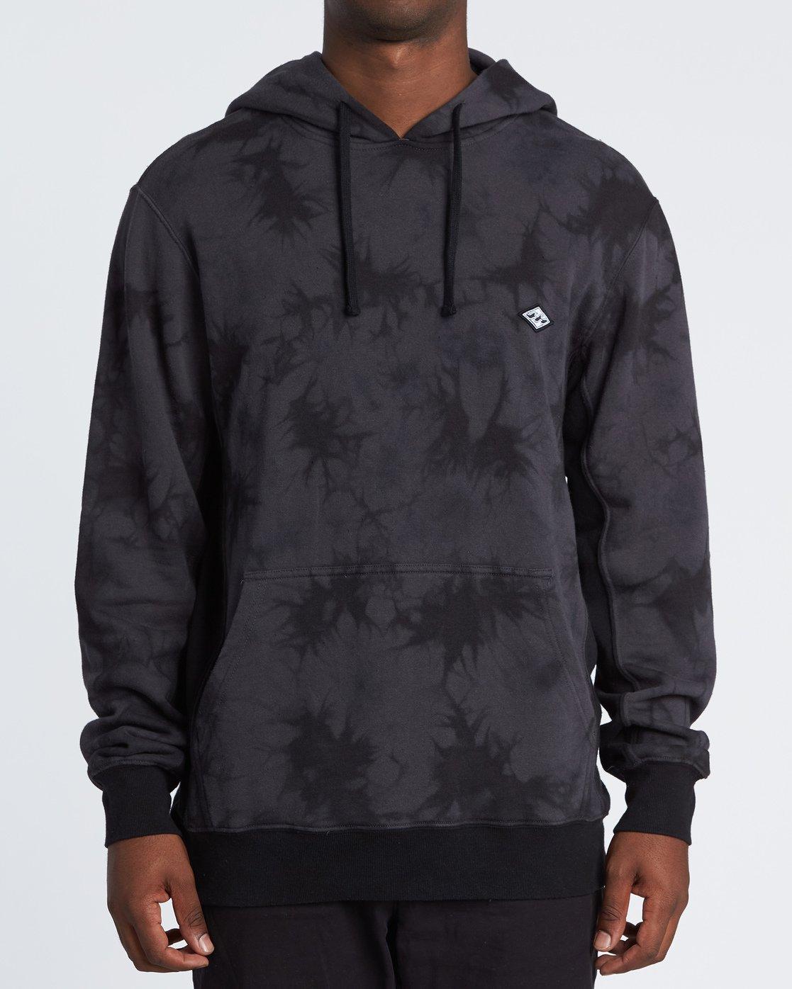 Wave Washed Pullover Sweatshirt à capuche Tie & Dye pour Homme