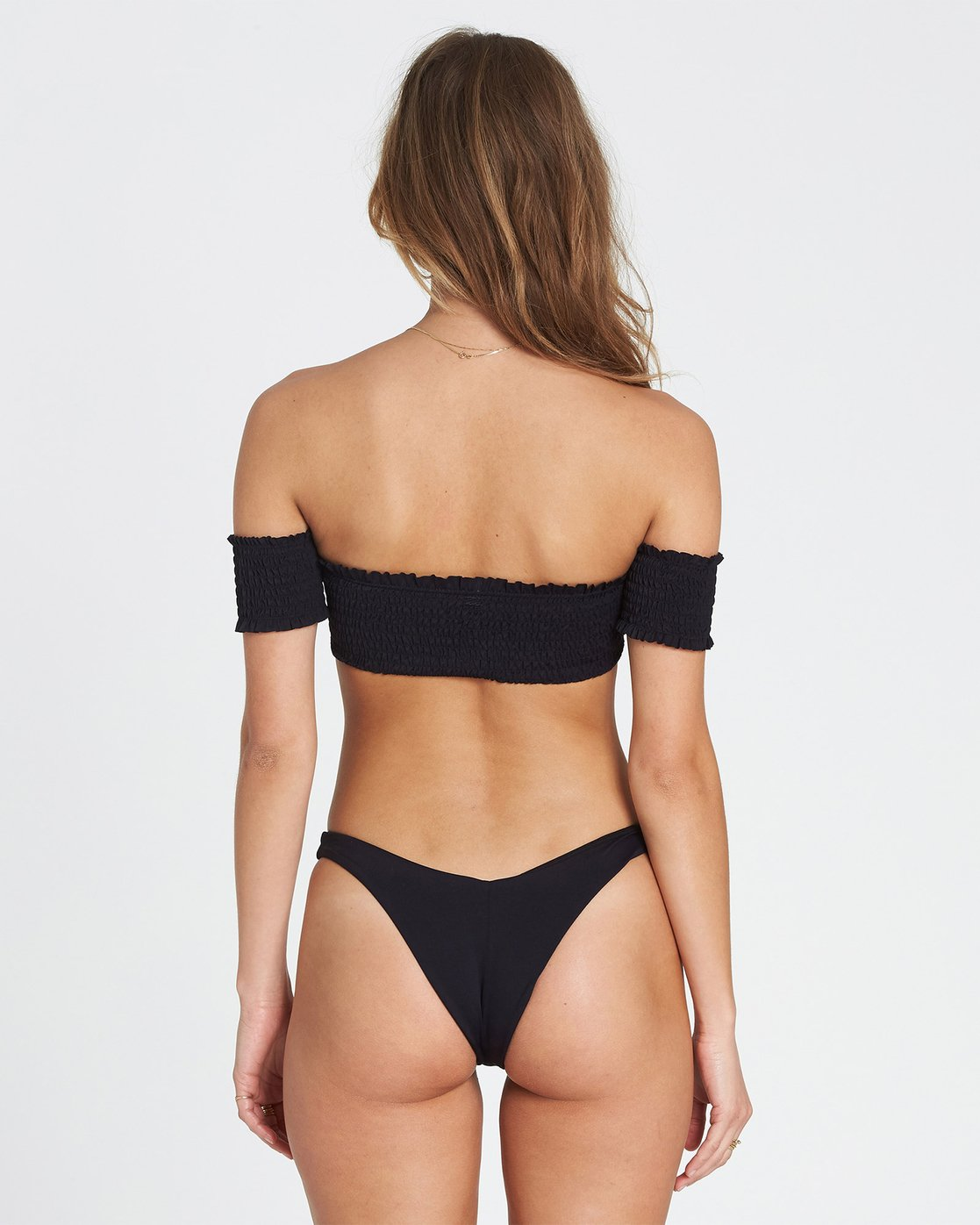 1548fd347f 2 Sol Searcher Off Shoulder Strapless Bikini Top Black XT03SBSO Billabong