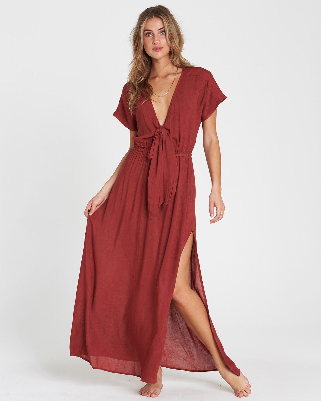 On The Sea Woven Cover Up Maxi Dress XV02