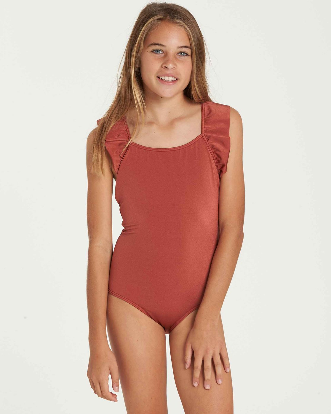 8ab30fc387c95 0 Girls' Shine One Piece Swim Brown Y108QBSH Billabong
