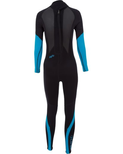 1 3/2 Launch Series Back Zip Fullsuit 	 Schwarz 043G01BIPP Billabong