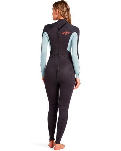 1 Launch 3/2mm Bz GBS - Back-Zip-Neoprenanzug für Frauen Grau 043G18BIP0 Billabong