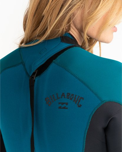 4 Launch 3/2mm Launch Bz GBS - Combinaison Back Zip pour Femme Bleu 043G18BIP0 Billabong