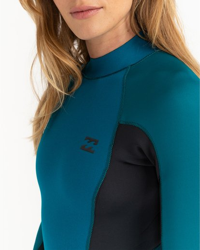 1 Launch 3/2mm Launch Bz GBS - Combinaison Back Zip pour Femme Bleu 043G18BIP0 Billabong