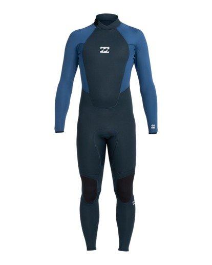 0 Intruder 3/2mm Intrdr Bz GBS - Back Zip Wetsuit for Men Blue 043M18BIP0 Billabong