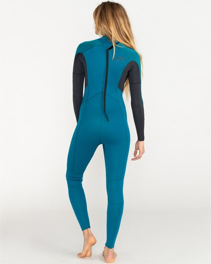 1 Launch 4/3mm Launch Bz GBS - Back Zip Wetsuit for Women Blue 044G18BIP0 Billabong