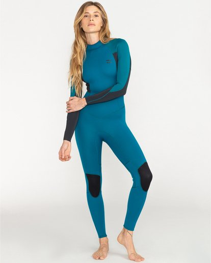 2 Launch 4/3mm Launch Bz GBS - Back Zip Wetsuit for Women Blue 044G18BIP0 Billabong