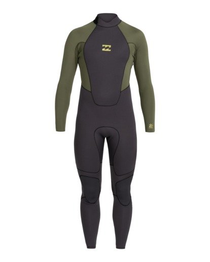 0 Intruder 4/3mm Intrdr Bz GBS - Back Zip Wetsuit for Men Black 044M18BIP0 Billabong