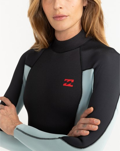 1 Launch 5/4mm Launch Bz GBS - Back Zip Wetsuit for Women Grey 045G18BIP0 Billabong