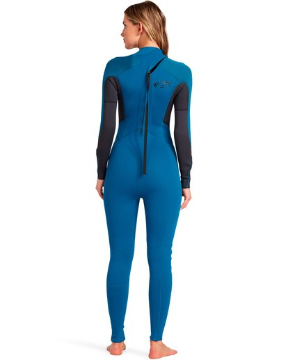 1 Launch 5/4mm Launch Bz GBS - Back Zip Wetsuit for Women Blue 045G18BIP0 Billabong