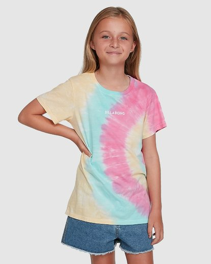 2 Tie Dye Love Short Sleeve Tee Grey 5504002 Billabong