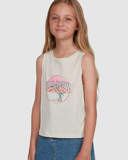 0 Sun Faded Tank White 5504491 Billabong