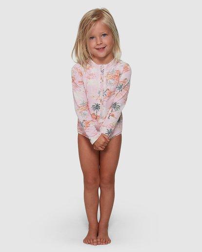 2 Sweet Sun One Piece Rash Vest Pink 5504712 Billabong