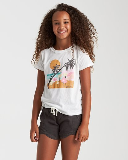 0 Beach Flowers Tee White 5508002 Billabong
