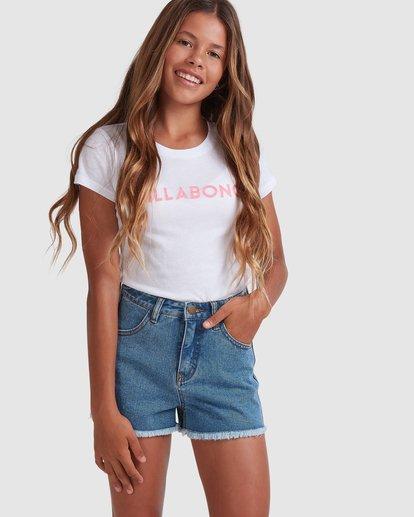 0 Girls 6-14 Avalon Shorts Blue 5513346 Billabong