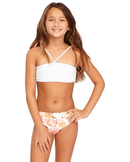 1 Girs 6-14 Walk In The Sun Bandeau Bikini  5513702 Billabong