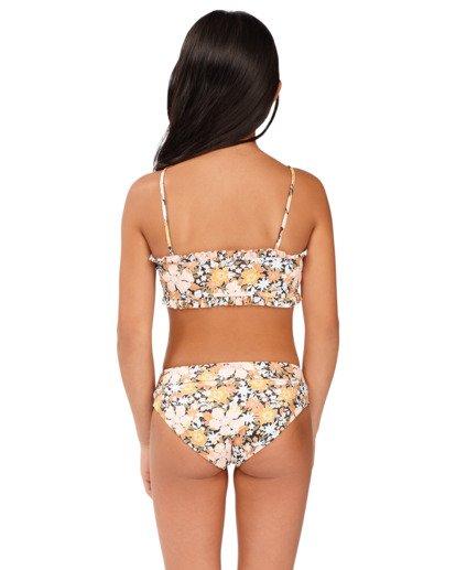 3 Girls 6-14 Sweet Dreams Reversible Bandeau Bikini Grey 5513706 Billabong