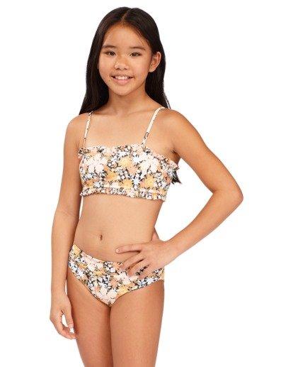 2 Girls 6-14 Sweet Dreams Reversible Bandeau Bikini Grey 5513706 Billabong
