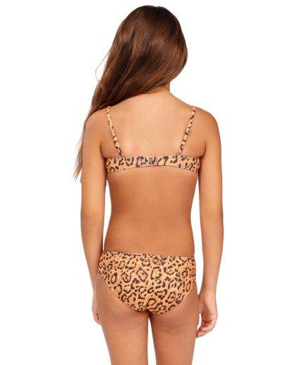 2 Girls' Lil Bit Wild Strappy Tank Bikini Set Beige 5513708 Billabong