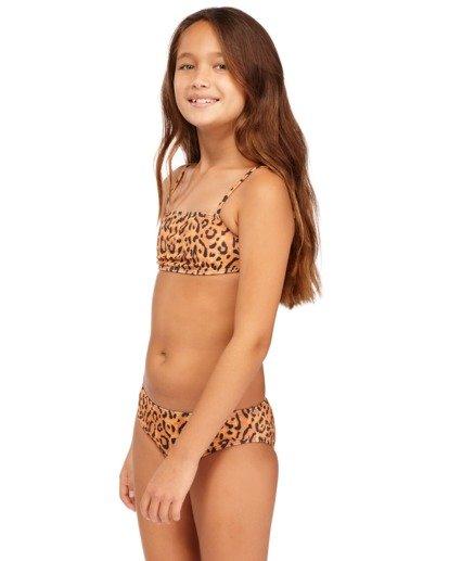 1 Girls' Lil Bit Wild Strappy Tank Bikini Set Beige 5513708 Billabong