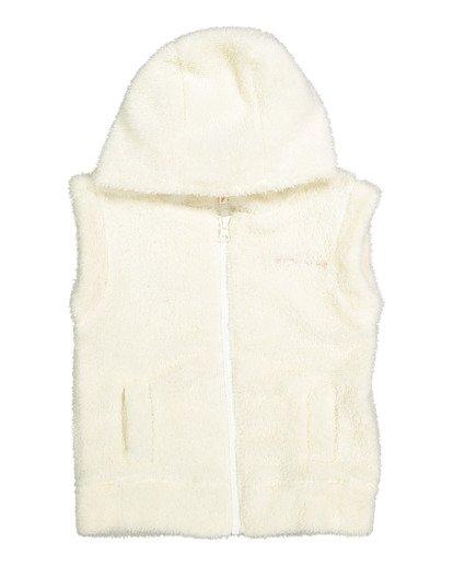 4 Snuggle Up Hooded Zip Thru Vest White 5517204 Billabong