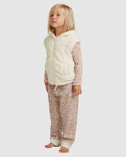 1 Snuggle Up Hooded Zip Thru Vest White 5517204 Billabong