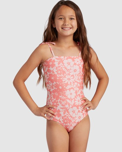 0 Girl's Way To Love One Piece Swimsuit Grey 5517706 Billabong