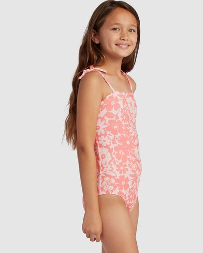 1 Girl's Way To Love One Piece Swimsuit Grey 5517706 Billabong