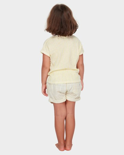 2 GIRLS SOLEIL STRIPE TEE Yellow 5582005 Billabong