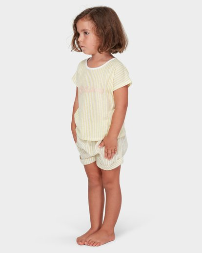 1 GIRLS SOLEIL STRIPE TEE Yellow 5582005 Billabong